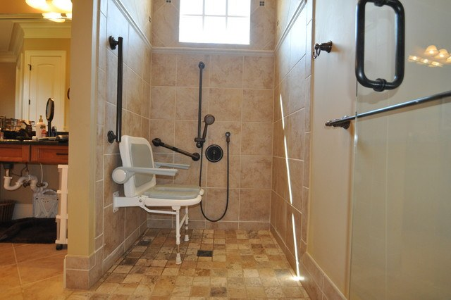 Barrier free bathrooms for Handicapped accessible bathroom plans