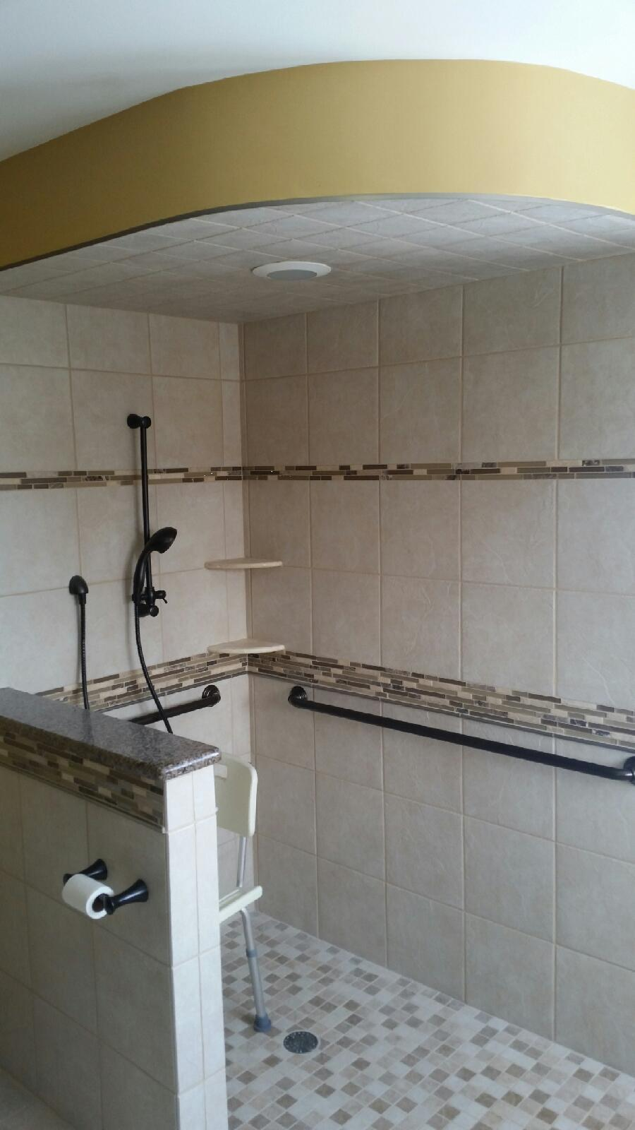 barrier free shower macomb county mi
