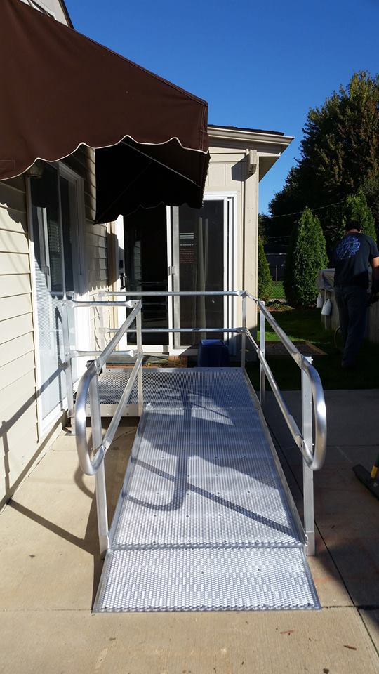 aluminum wheelchair ramp macomb county mi