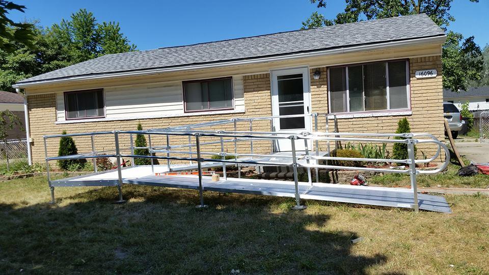 aluminum wheelchair ramp in macomb county